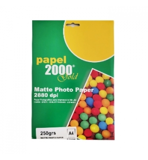 Papel 250gr InkJet 2000 A4  Foto Matte - 20 Folhas