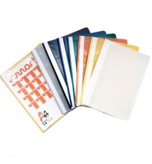 Classificador Plastico PP Capa Transparente Vermelho 1uni