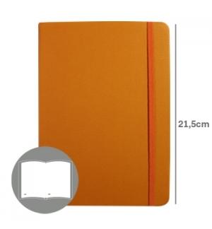 Bloco Notas Liso 215x145cm Semi Pele Amarelo 116 Flh