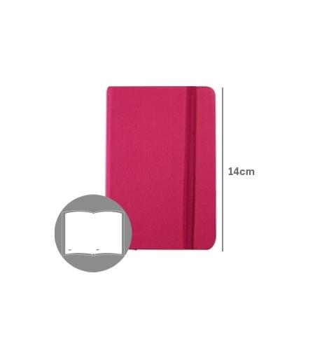 Bloco Notas Liso 14x9cm Semi Pele Rosa 116 flh (agenda)