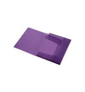 Porta Documentos Plast Transp A4 25mm C/Elast Violeta