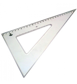 Esquadro Plastico Cristal Smart Office 60 - 29cm - 1un