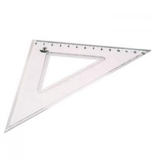 Esquadro Plastico Cristal Smart Office 45 - 14cm - 1un