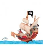 Kit de Construcao Barco de Piratas 3D