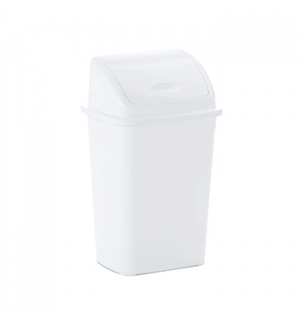 Contentor Plastico c/Tampa Basculante 30 Litros Branco un
