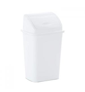 Contentor Plastico c/Tampa Basculante 50 Litros Branco un