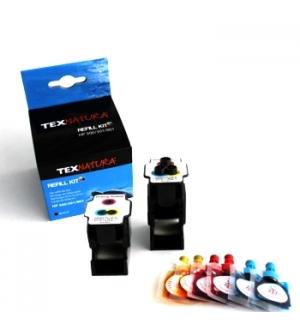 Refill Kit p/HP N22/N28/N57 (C9352/C8728/C6657) 3 Cores