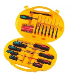 Kit de chaves e bits em Chrome Vanadium