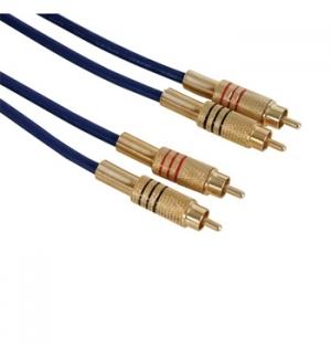 Cabo de audio alta qualidade 2 xRCA m / m - 15m