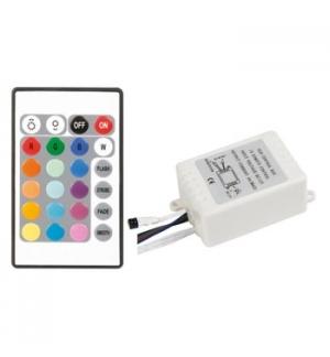 Controlador LED RGB com controle remoto IR low cost