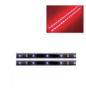 Fita LED auto-adesiva dupla 12VDC vermelha c/ boto ON/OFF