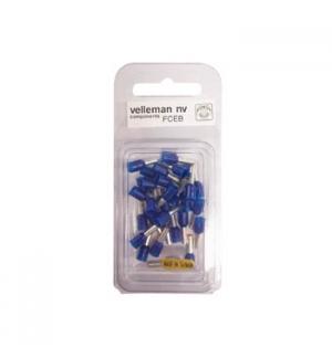 Conector ponteira p/ cravamento azul 25mm 30un