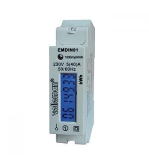 Modulo de consumo de energia kW/hora montagem calha DIN