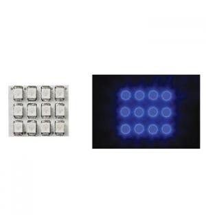 Dome light com Leds azuis 12V - 17x20mm