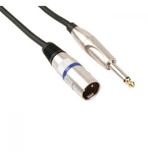 Cabo Audio XLR Macho para Jack 635 mm Mono Macho 15m