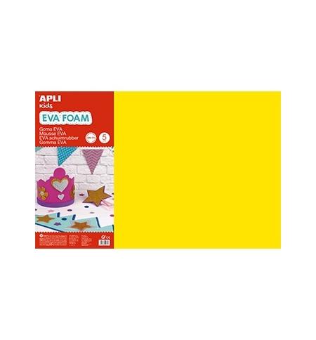 Placa de Cor Musgami 40x60cm 2mm Amarelo 5Fls