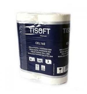 Papel Higiénico Doméstico 30mts Tisoft Premium 3Folhas 6Rls
