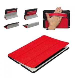 Capa inteligente pele vermelha p Apple iPad mini c/ correia