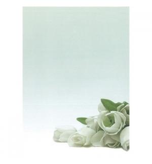 Papel Temático Flor Branca A4 90g 20 Folhas