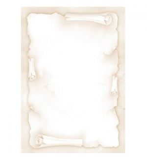 Papel Temático Pergaminho A4 90g 20 Folhas