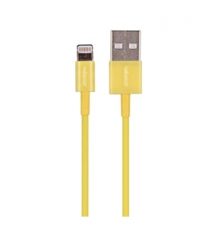Cabo USB 20 para iPhone/iPad 5 Amarelo 1mt