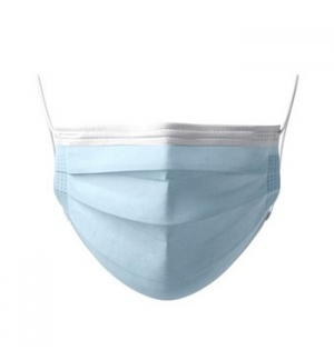 Máscara Descartável Criança 3 Camadas Azul Cx.50un