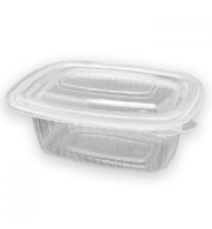 Embalagem Alimentar 250ml  PP Plástico Quadrada Tampa 50un