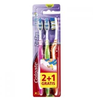 Escova de Dentes COLGATE Zig Zag Media 2+1un
