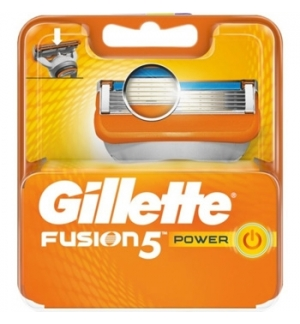 Lâminas GILLETTE Recargas Fusion 5 Power 4un