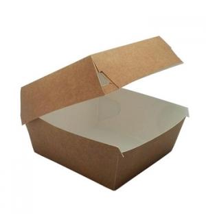 Caixa Hamburguer Kraft 11,5x11,5x7,5cm 150un