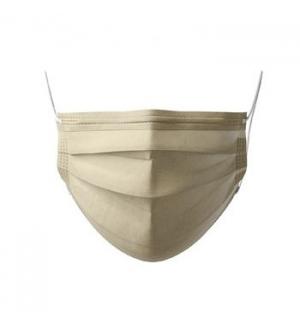 Máscara Descartável 3 Camadas Dourada Blister 10un