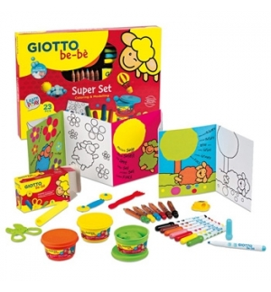Conjunto Giotto Be-Be p/Colorir e Modelar
