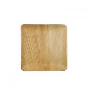 Pratos Folha de Palma Quadrado 25,5x25,5x1,5cm 6un
