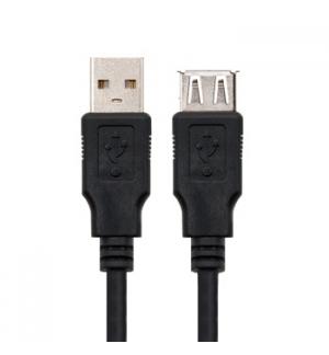 Cabo USB-A 2.0 Macho / Fêmea 3m Preto