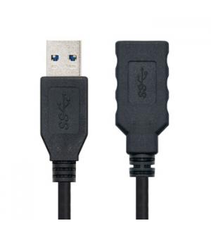 Cabo USB-A 3.0 Macho / Fêmea 2m Preto