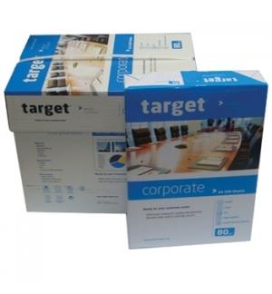 Papel Fotocopia A4 080gr Target Corporate 5x500Folhas