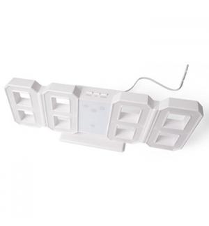 Relógio LED 3D Digitos Brancos