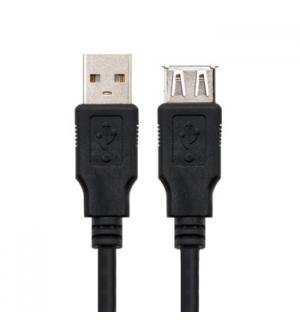 Cabo USB-A 2.0 Macho / Fêmea 1.8m Preto
