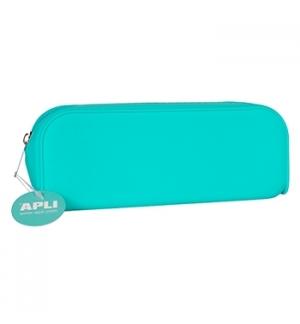 Estojo Silicone Apli Soft Fluor Azul 1un