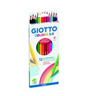 Lapis Cor 18cm Giotto Colors 30 Cx Cartao 12un