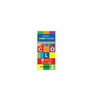 Lapis Cor 18cm Color Pencil Cx Cartao de 12un