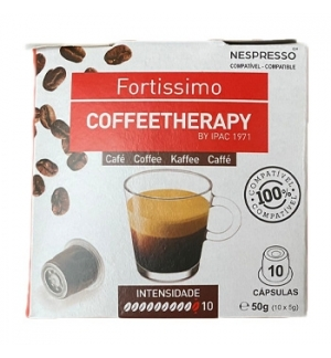 Café Cápsulas CoffeeTherapy p/Nespresso Fortissimo 10un