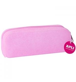 Estojo Silicone Apli Soft Glitter Rosa 1un