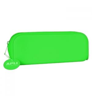 Estojo Silicone Apli Soft Fluor Verde 1un