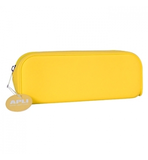 Estojo Silicone Apli Soft Fluor Amarelo 1un
