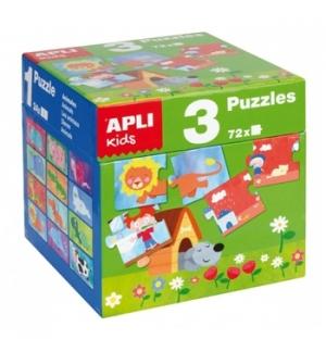 Jogo Puzzle Apli Formato Cubo 3x24 Peças