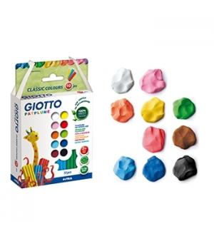 Plasticina Giotto Patplume Conjunto Sortido 10x20gr