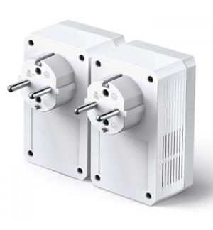 Kit 2 Adap PowerLine TP-Link 600Mbps RJ45 c/Pass-Through