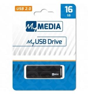 Pen Drive 16GB MYMEDIA USB 2.0 Preto