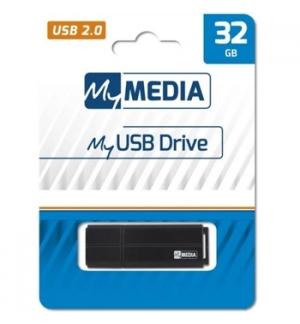Pen Drive 32GB MYMEDIA USB 2.0 Preto